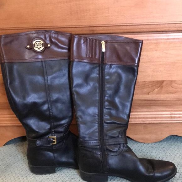 49b0b08121dc Liz Claiborne riding boots-wide calf